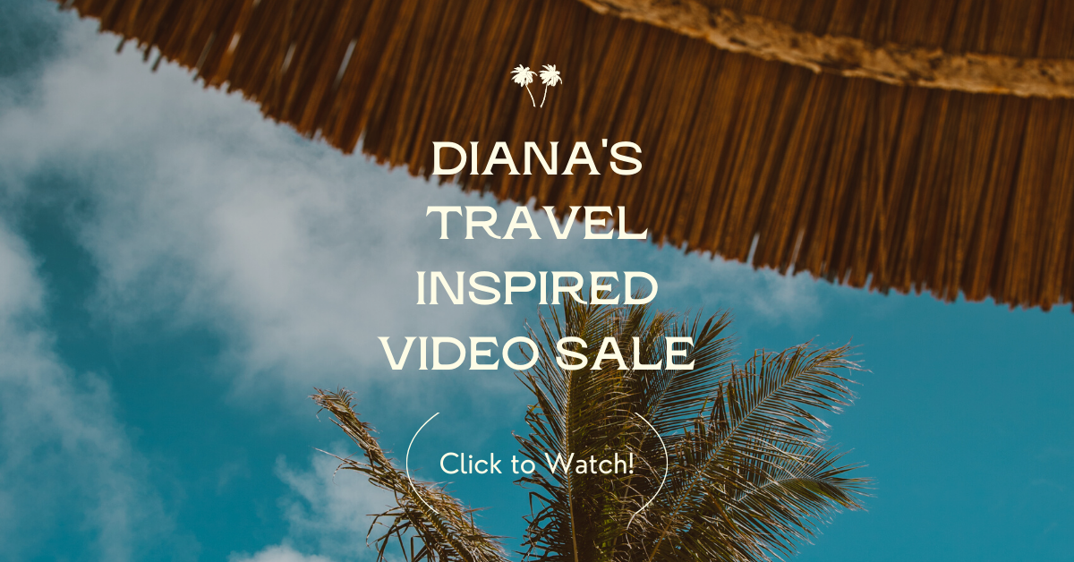 Diana's Travel Inspired Video Sale image